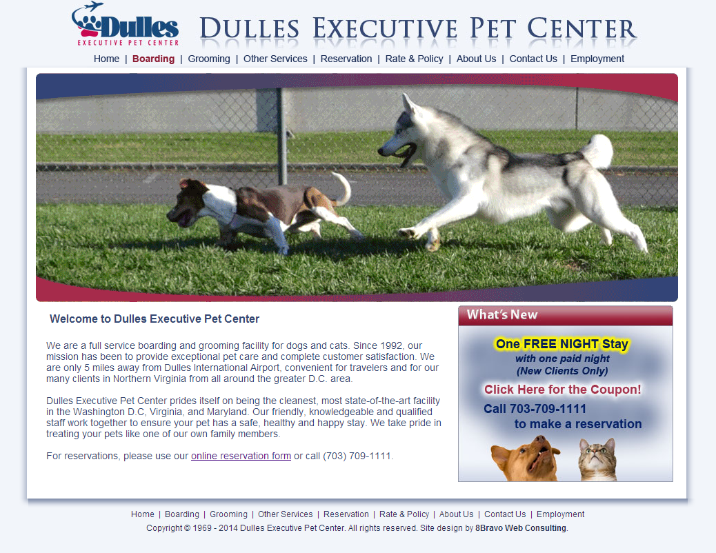 dulles executive pet center