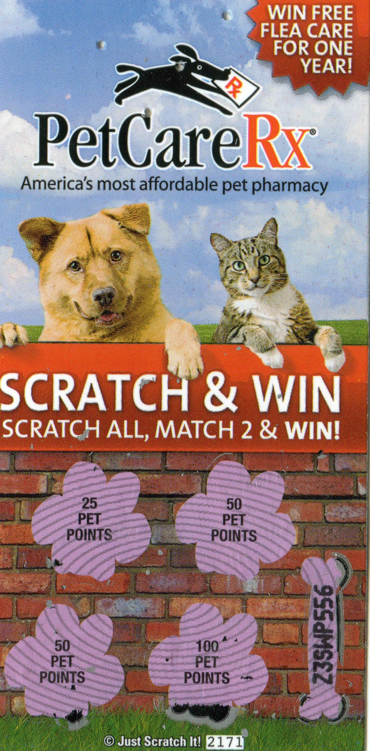 Scratchers - Store promotion from from PetCareRx
